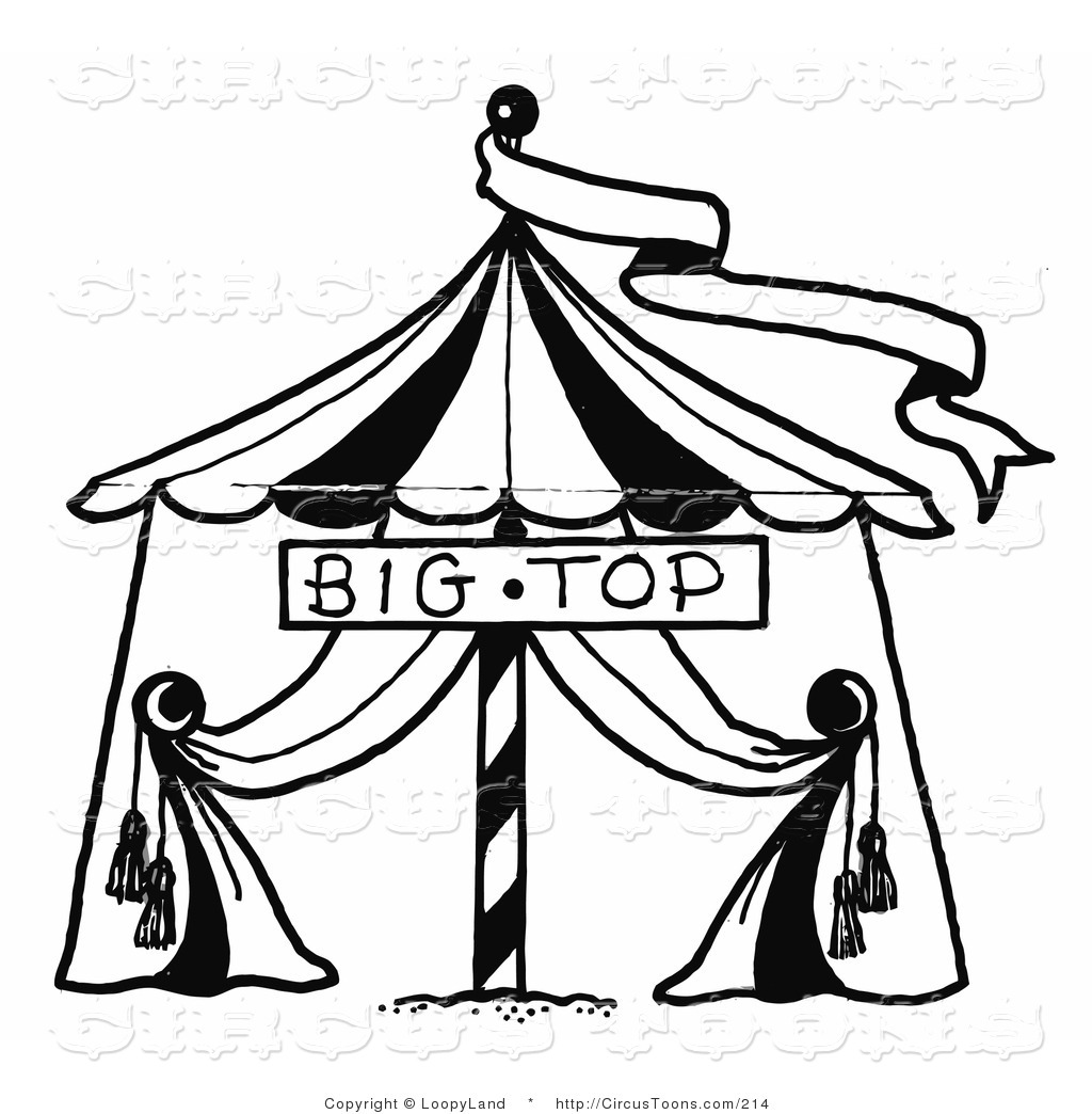 Tent clipart banner White Circus  and Top