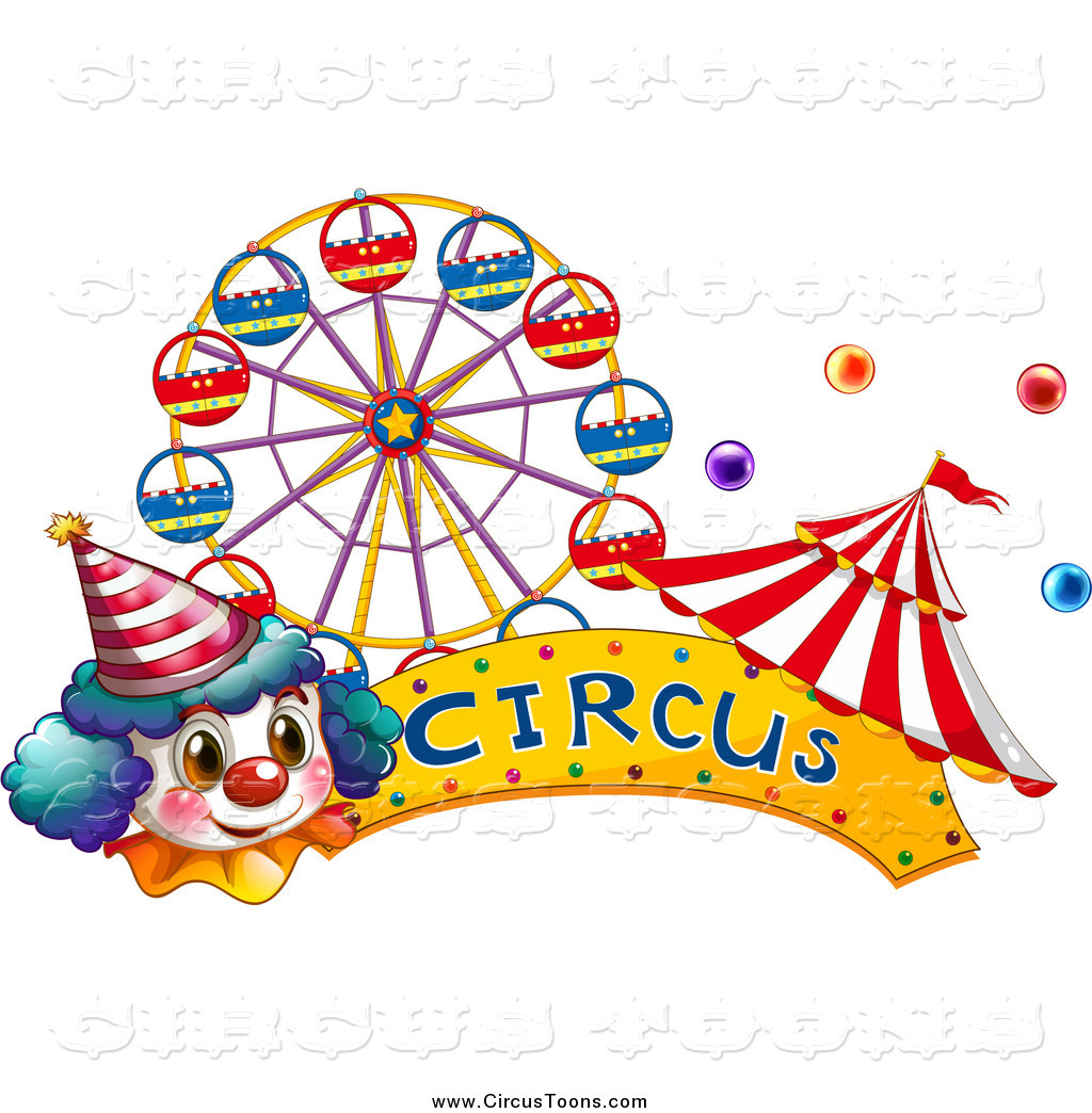 Tent clipart banner With and a Tent Clown
