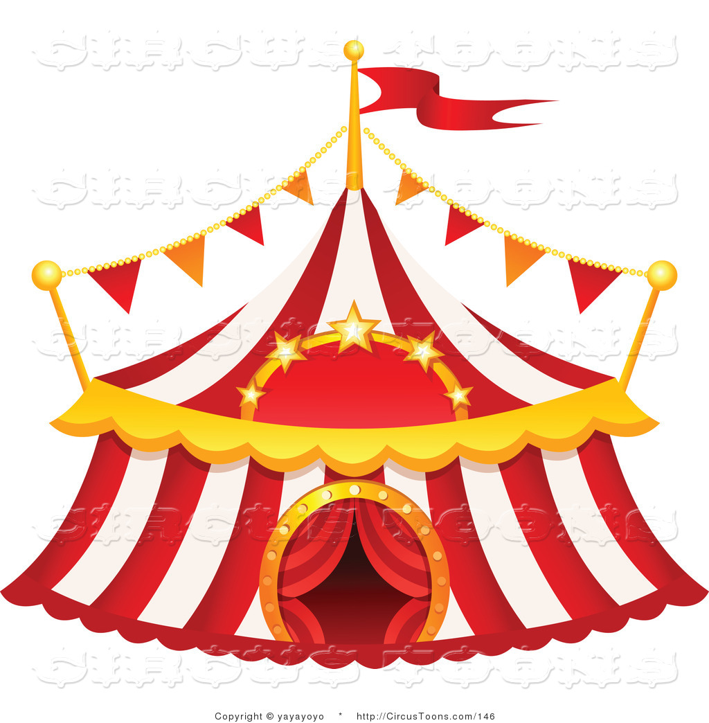 Carnival clipart pink circus tent Top Big Big White Free