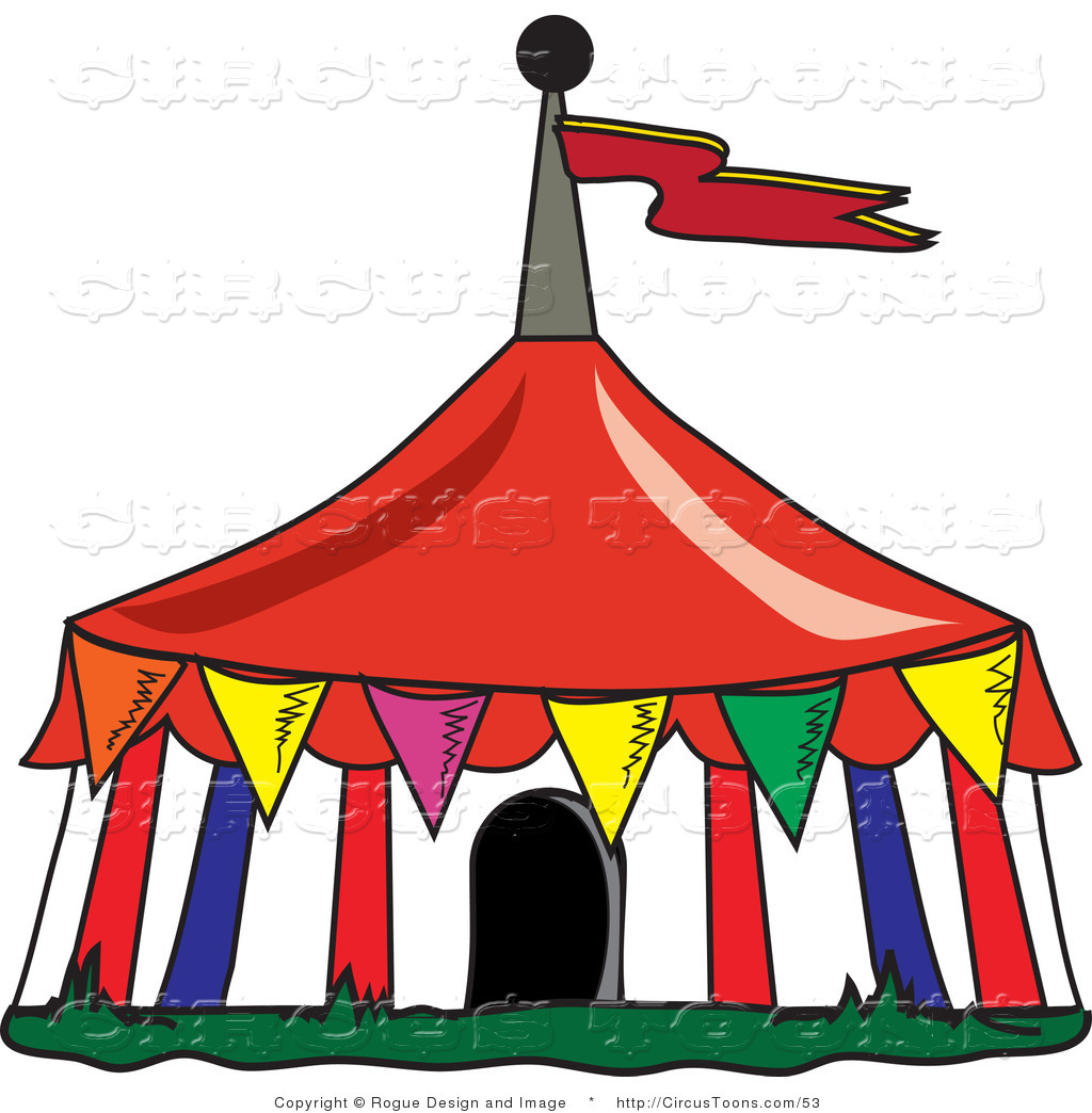 Carneval clipart big top Top Flags a a of