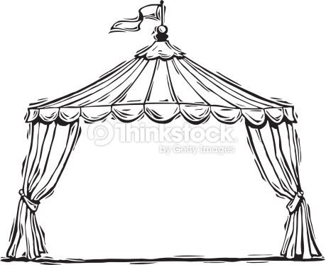 Tent clipart black and white Tent clipart Carnival Circus And