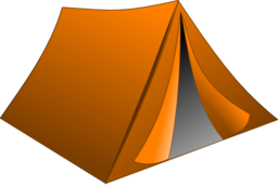 Brown clipart tent Of clipart Clipart green wheel