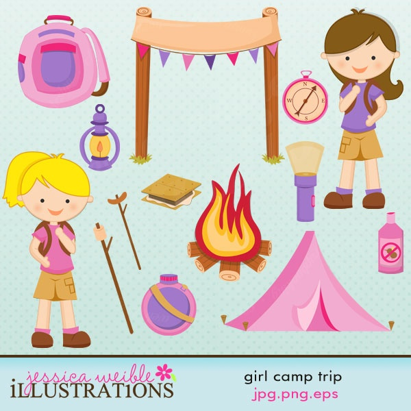Tent clipart camping trip  SALE Camp Clipart on