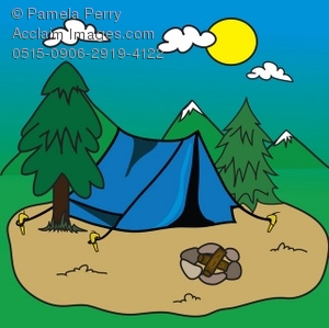Tent clipart camping trip Art of Pup Illustration a