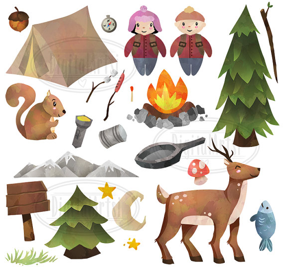 Tent clipart camping trip Camping Camping Trees Instant Camping
