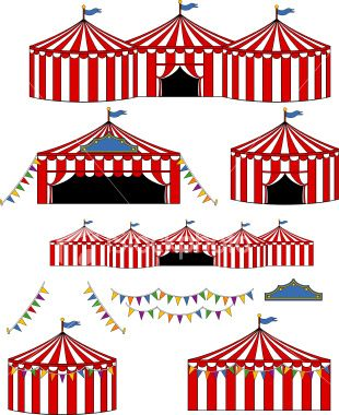 Tent clipart carnival booth Art Circus/Carnival Big Stock Pinterest