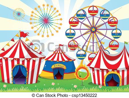 Tent clipart carnival ride Carnival of carnival Vector stripe
