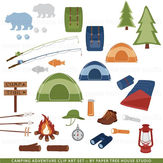Hiking clipart camping gear Camping Set Pinterest Tent Art