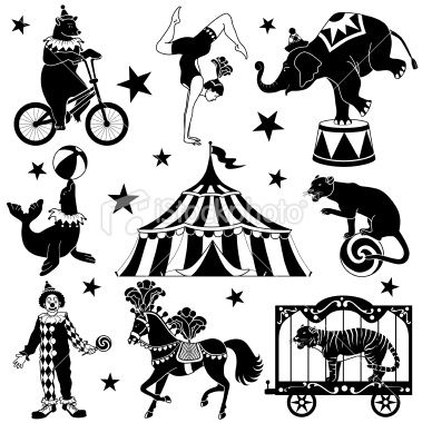 Carnival clipart silhouette Images on images tent Bing