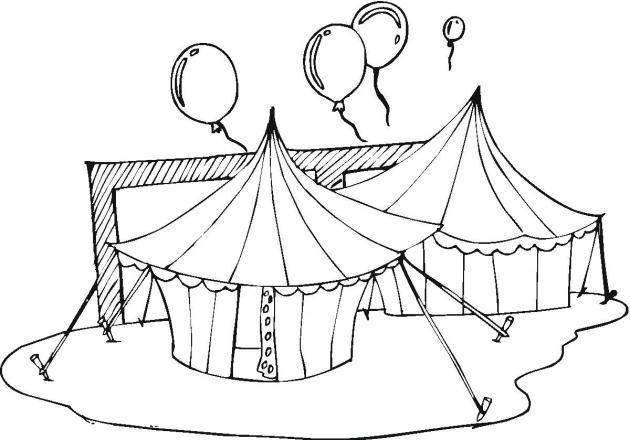 Tent clipart coloring page Tent Circus pages pages Circus