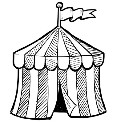 Tent clipart coloring page Of Tent A Circle Drawing
