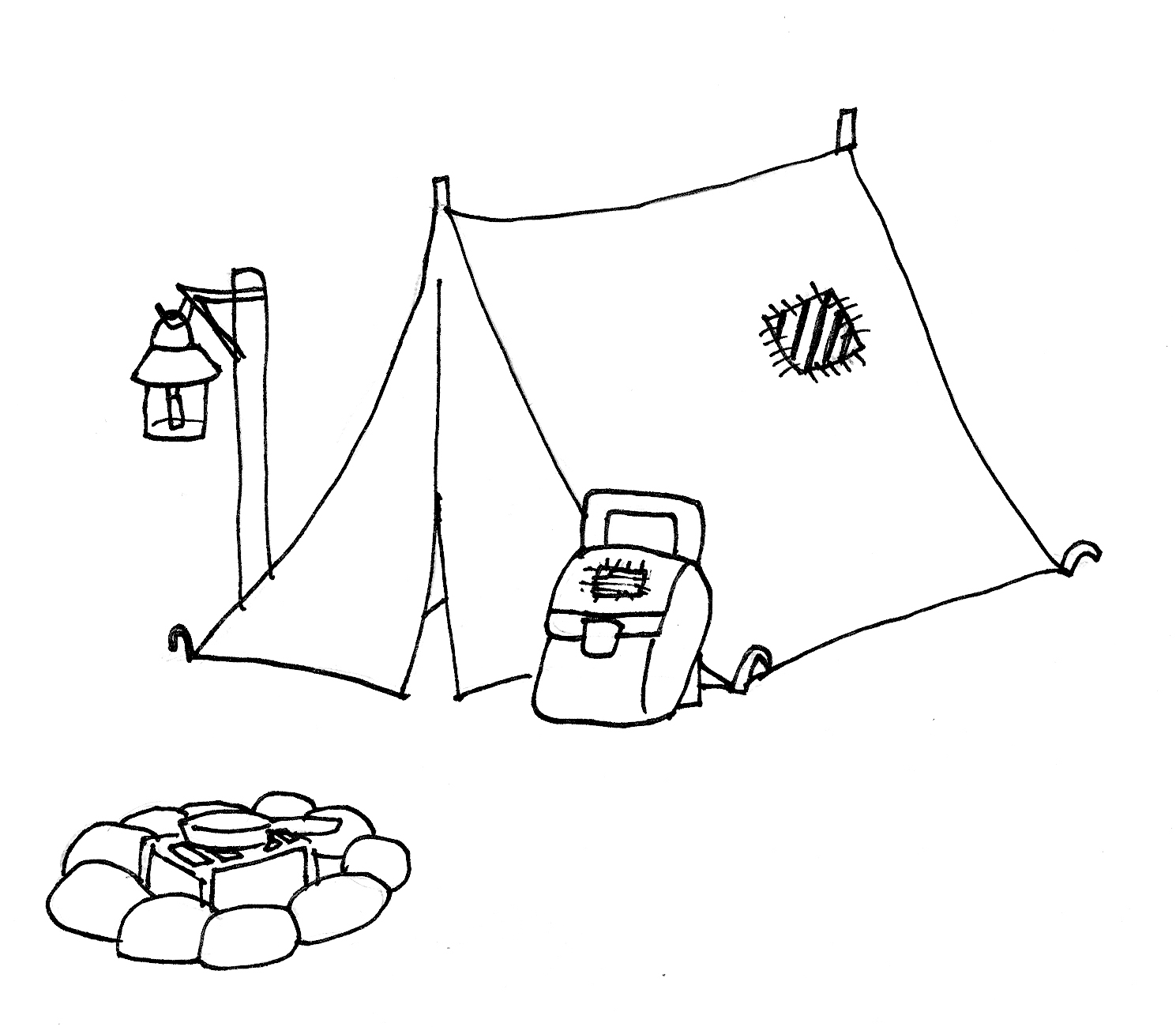 Tent clipart coloring page Art Download coloring Images clip