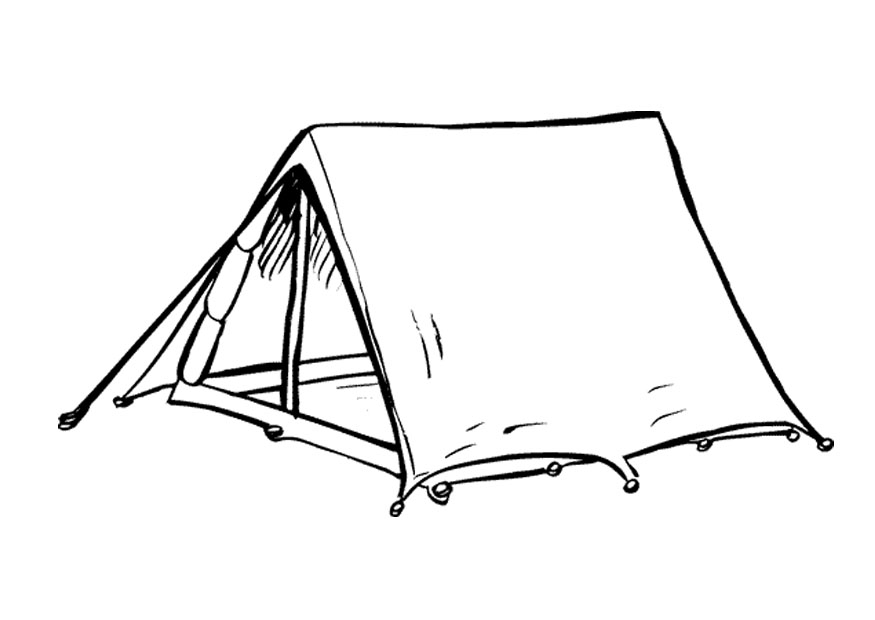 Tent clipart coloring page Coloring ClipArt net Pages Wall