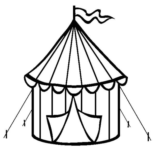 Tent clipart coloring page To Print Pages Coloring Kids