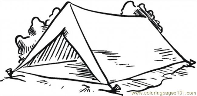Tent clipart coloring page Download drawings #18 coloring Tent