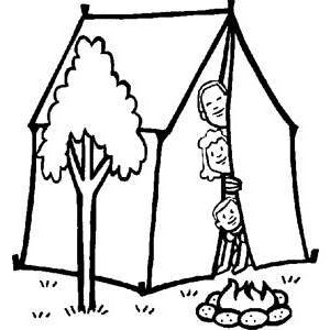 Tent clipart coloring page Page Coloring Family  Color