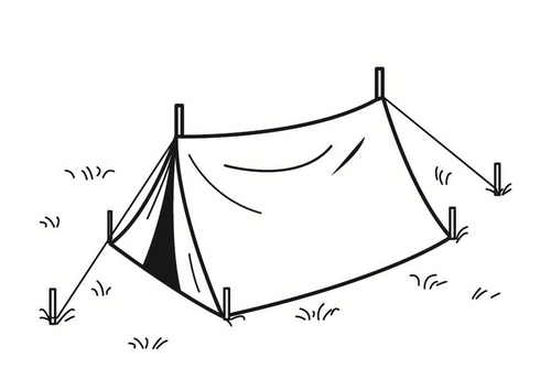 Tent clipart coloring page Pages ETC Tent Tent Coloring