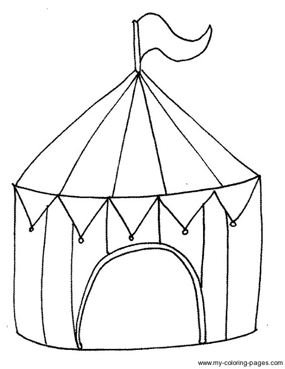 Tent clipart coloring page Page Circus  Coloring Coloring
