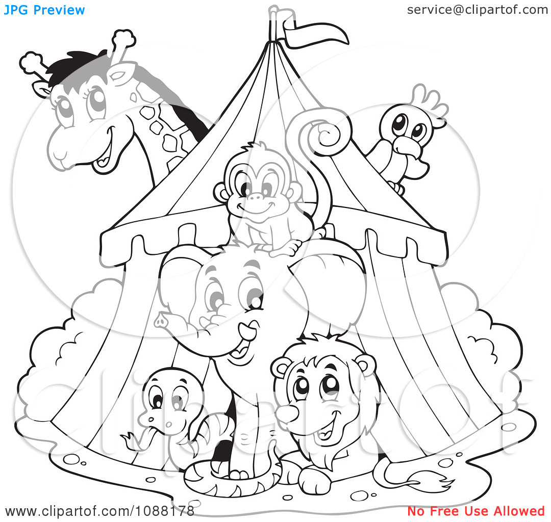 Tent clipart coloring page With Circus Coloring Pages Coloring