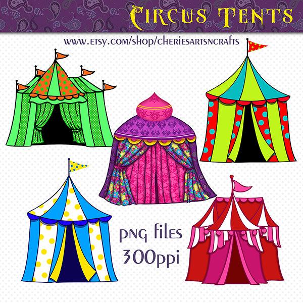 Tent clipart cute Art tent Circus Circus Clip