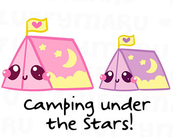 Tent clipart cute Etsy Camping Planner Stickers for