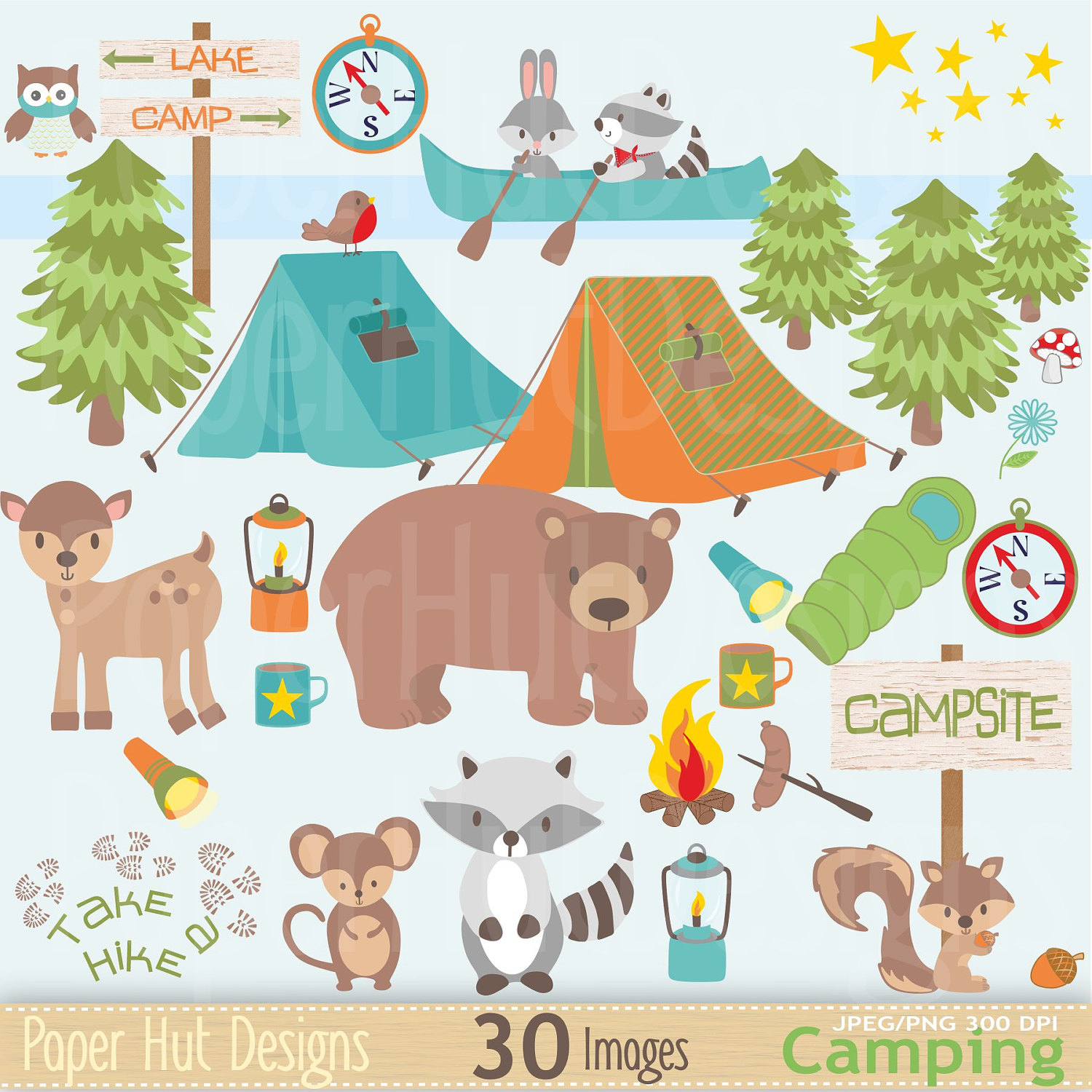 Tent clipart cute  Forest Cute This a