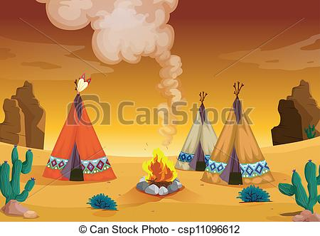 Tent clipart desert Clip tent and house house