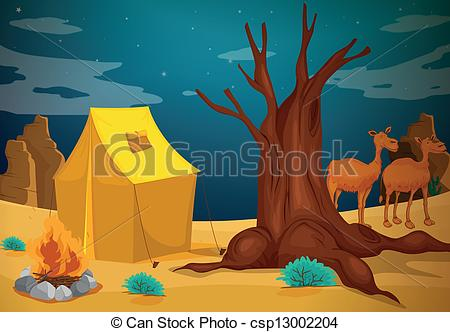 Tent clipart desert Csp13002204 a of a with