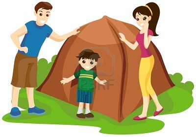 Hiking clipart kid campfire Family Camping dromfgd dromfgg clipart