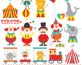 Tent clipart girly Circus Circus Circus digital clipart