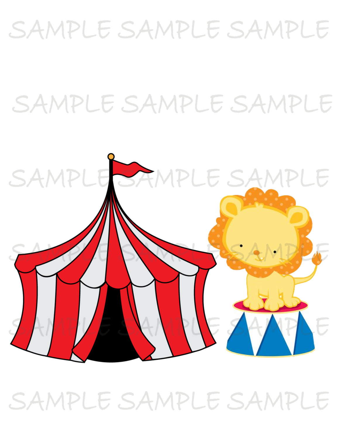 Tent clipart girly As Party Clip Circus Iron