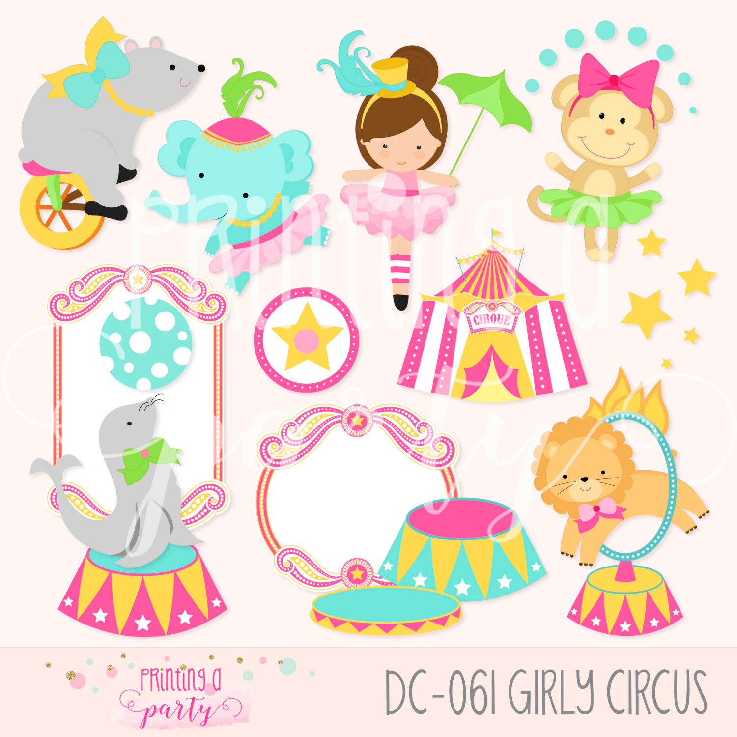 Circus clipart girly Bear  Girl Party Animals