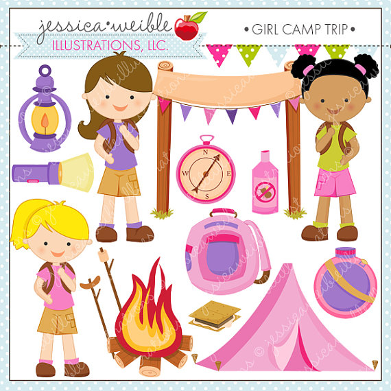 Tent clipart girly Cute on Girl Clipart JWIllustrations