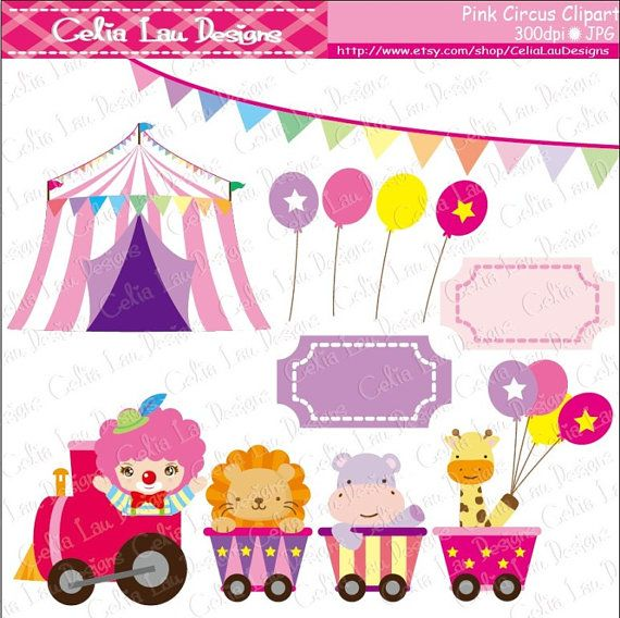 Carneval clipart pink circus tent Party Clipart INSTANT Girl ))