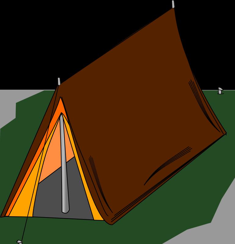 Brown clipart tent Clip Clip tent3 Art Domain