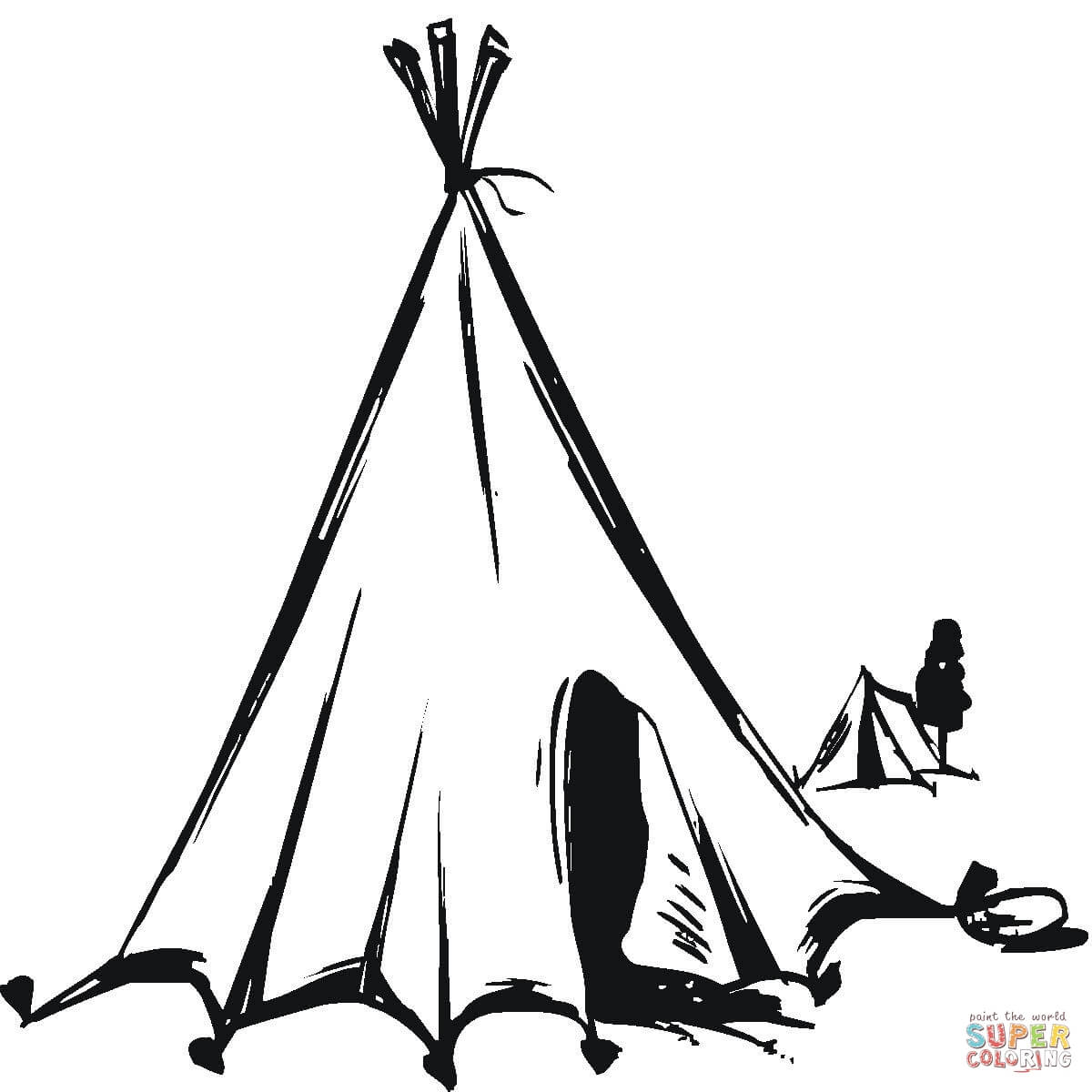 Tent clipart indian house Download #9 coloring coloring Tent