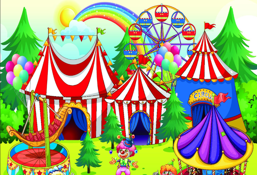 Tent clipart kids carnival Vinyl 7x5FT Kids Backdrops Kids