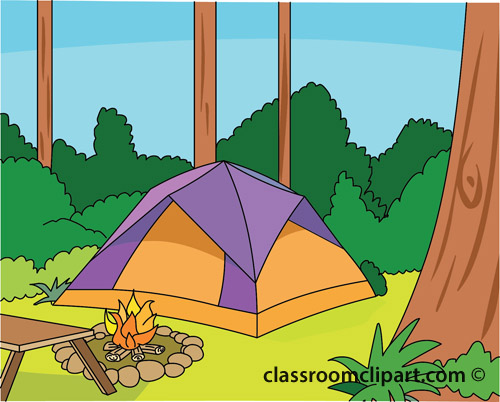 Camping clipart woods Night Cliparts Scenes clip art