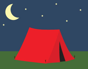 Tent clipart night scenery Camping with camping a Crafty