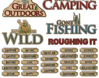 Campfire clipart outdoor adventure Digital Out Digital Campfire Art