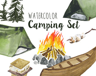 Camper clipart weekend activity Clipart campfire outdoors Camping Summer