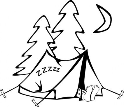 Camper clipart weekend activity Activities outline Craft camping sleeping
