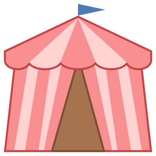 Carnival clipart pink circus tent Icon Tent Icon at Icons8