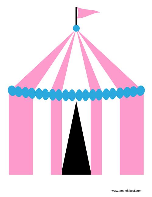 Carnival clipart pink circus tent Photo Printable Pink  Circus