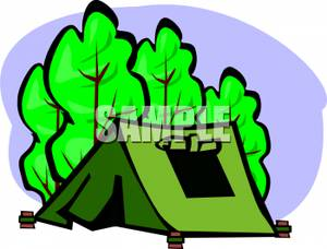 Tent clipart pitched The Forest Clipart Tent Forest