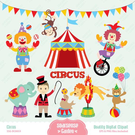 Tent clipart printable Circus Clip Carnival Clip Digital