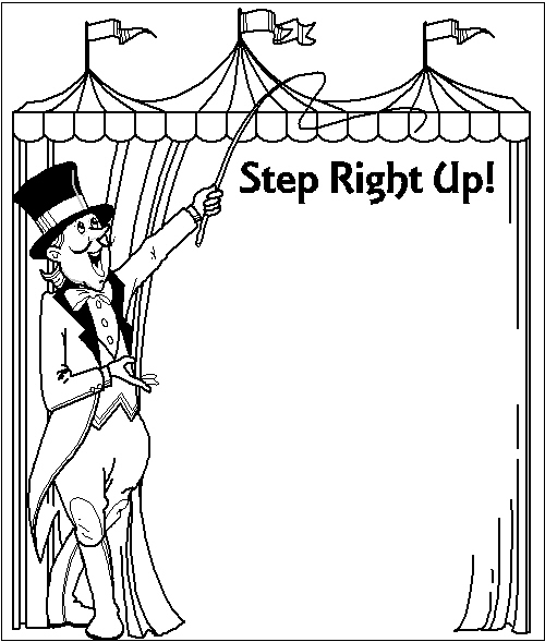 Circus clipart carnival games Carnival Circus page Clip Printable