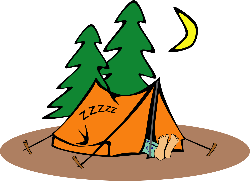 Tent clipart school camp Art Sleeping Free Clipart A