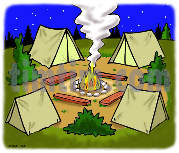 Bonfire clipart camping trip The Hunting drawing drawing Camping