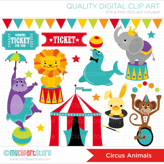Tent clipart spring carnival Lion Big Clipart Circus Bunny